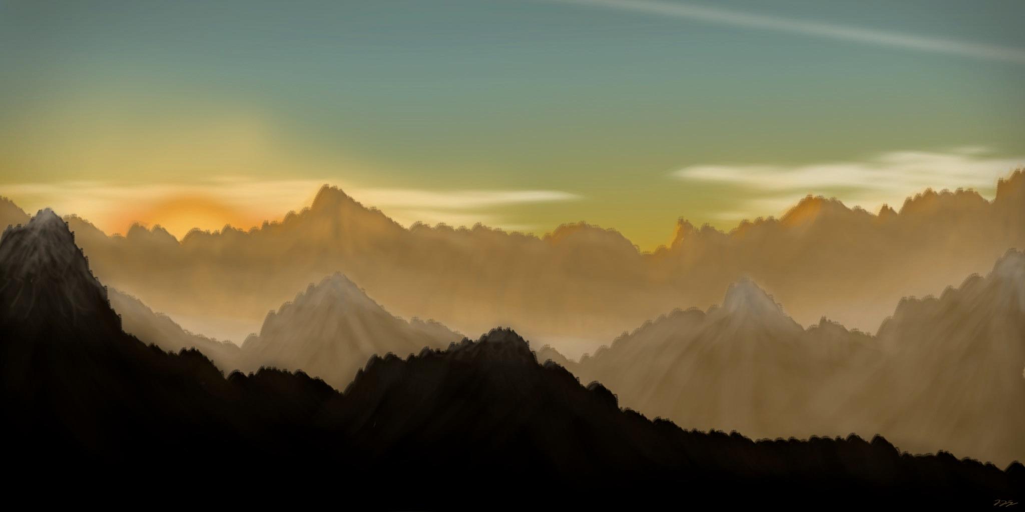 sunset hilly landscape by jonas jaeger on deviantart