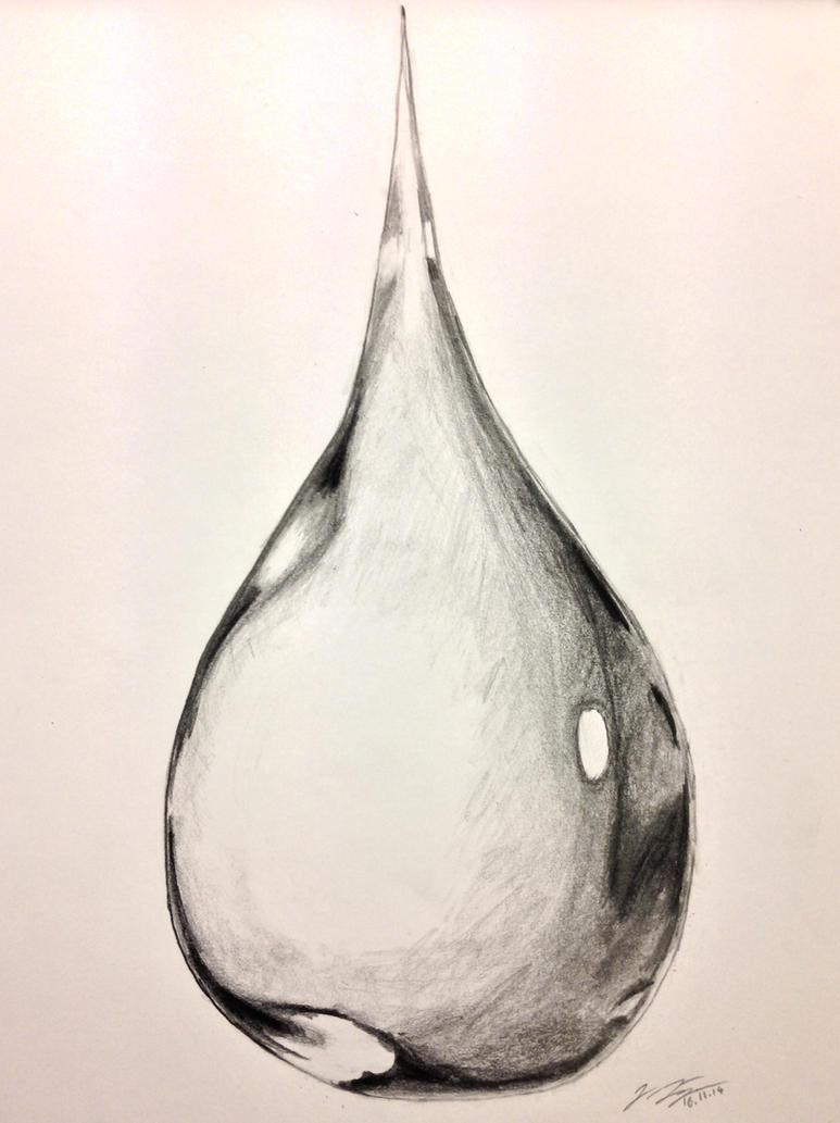 Water-drop Drawing by ...