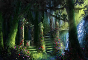 Garden Path by Ardoric-Art