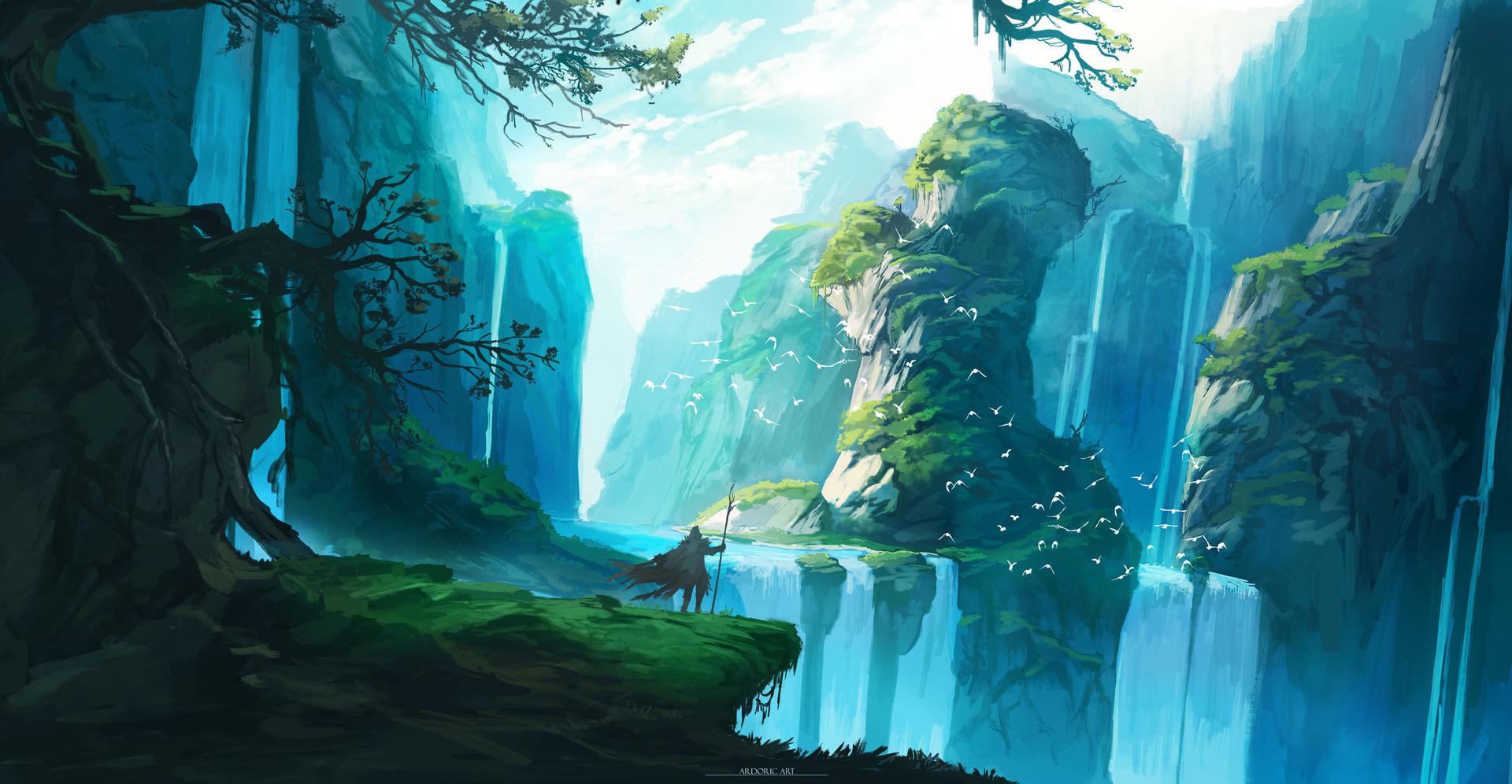 Hidden ravine concept by Ardoric-Art
