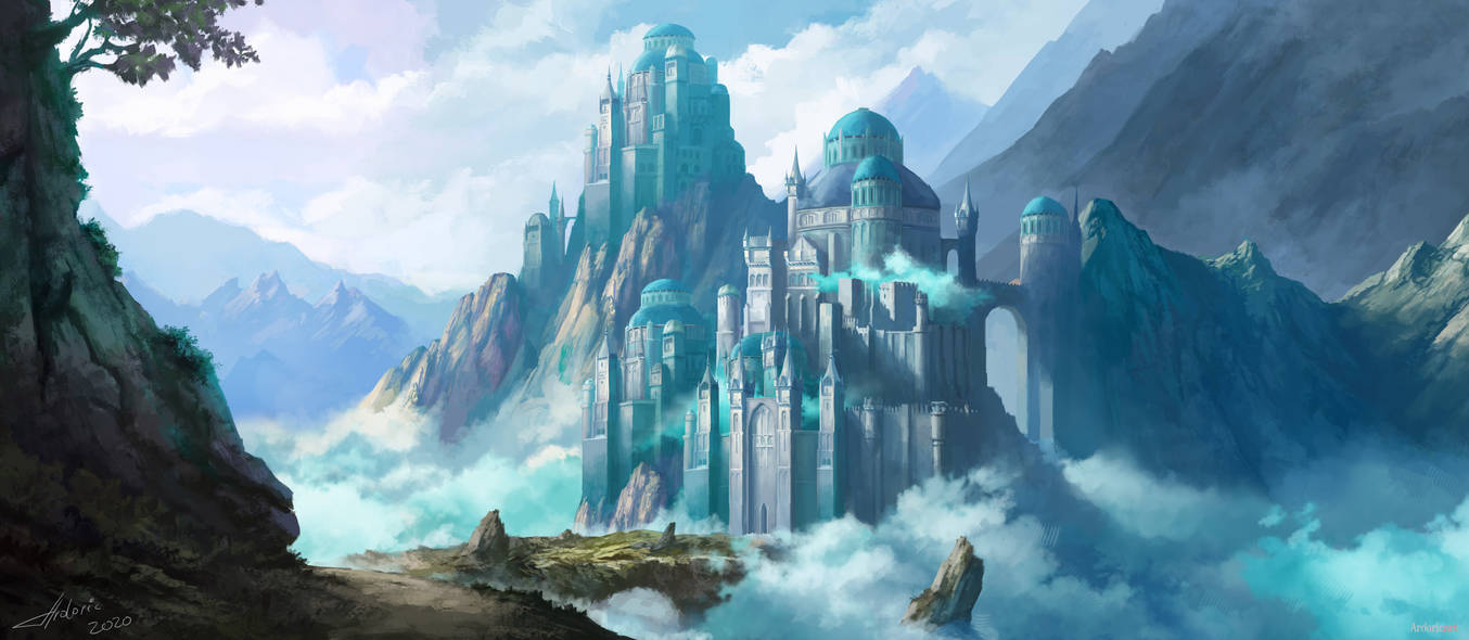 Mountain Fortress Monastery by Ardoric-Art