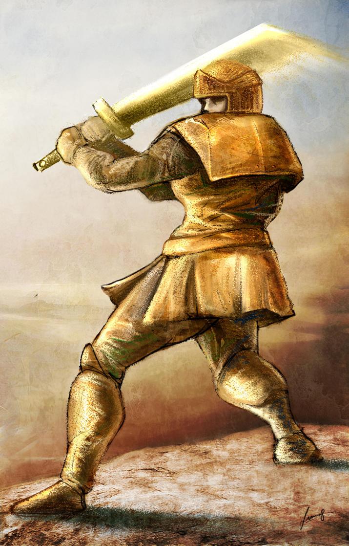 Golden Knight by LUN2004 on deviantART