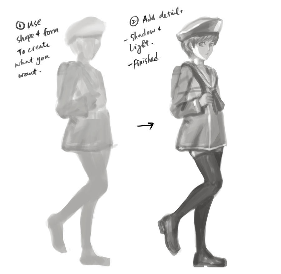 How to draw within 5 mins by LUN2004