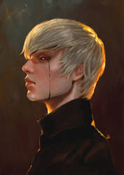 Tokyo Ghoul oil by LUN2004