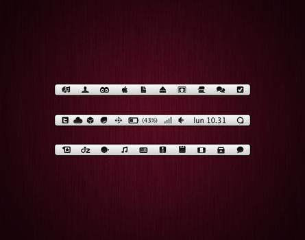 Menubar icons v2 Leopard, SL
