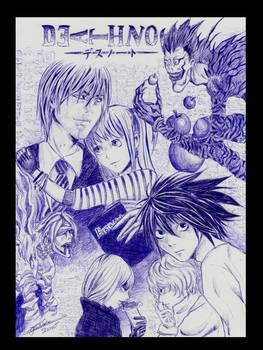 DeathNote - Ballpoint Sketch