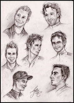 Cyclists -sketches-