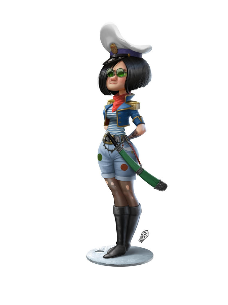 Pirate girl by UzhaZZ