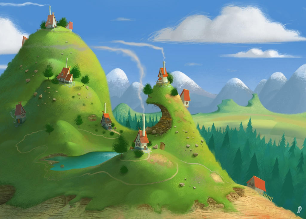 Mountain Village by UzhaZZ