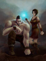 Jaga and Inoko by DovahLi