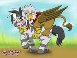 Reagle and Zaza Belly Rub Attack by Sword-of-Akasha
