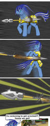 Blueberry Frost Ballistic Spear by Sword-of-Akasha