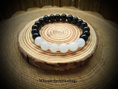 Moonstone Bracelet, Black Onyx Bracelet