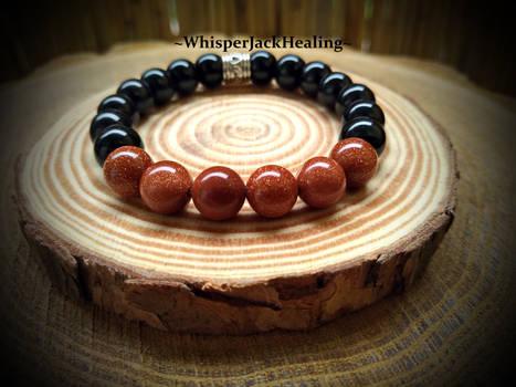 Sunstone Bracelet, Black Onyx Bracelet