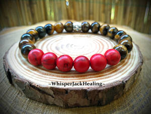 Tiger Eye and Red Howlite