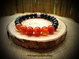 Carnelian and Black Onyx bracelet