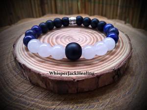 Moonstone, Lapis Lazuli and Black Onyx Bracelet
