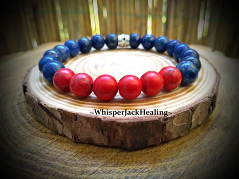Lapis Lazuli Bracelets, Red Howlite Bracelets