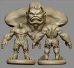 Hulk 3D modeling