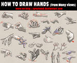 How to draw hands from many views