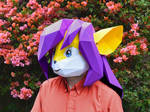 Paper Fursuit Mask: 'Cassie' by tetravariations