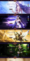 League of Angles web design by onejian