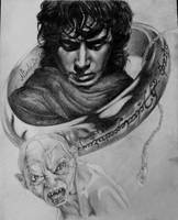 Lord of the Rings - Frodo, Gollum and The One Ring by NikkiNikz