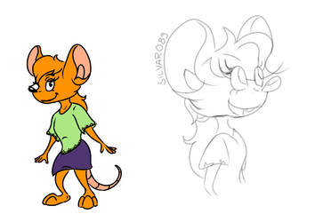 Molly Mouse sketch by PlatinumBladeStudios