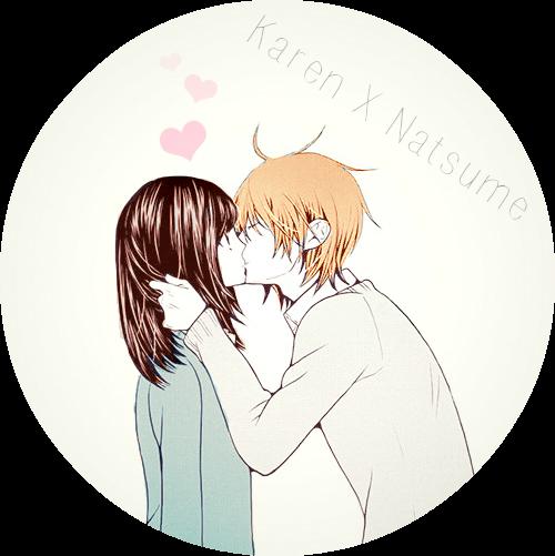 милые аниме картинки поцелуи
