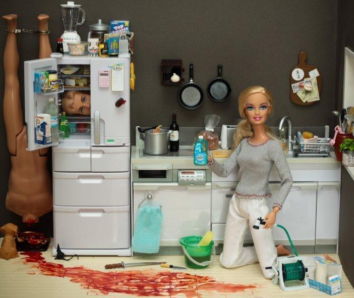 Barbie Murder Scene by Antje4president