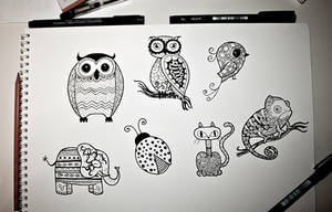 Random animals by MunnbeL