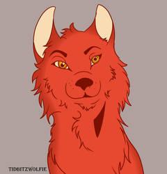 Wolf by tidbitzwolfie