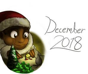 December Doodle (2018) by SparkytheWingedCat
