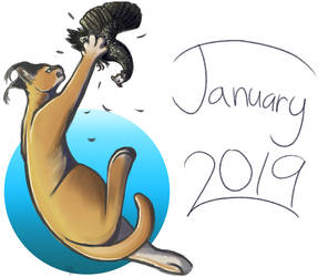 January Doodle (2019) by SparkytheWingedCat