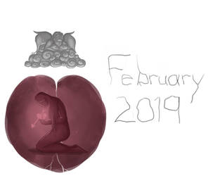 February Doodle (2019) by SparkytheWingedCat