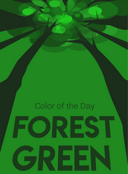Color of the Day: Forest Green by SparkytheWingedCat