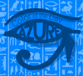 Color of the Day: Azure by SparkytheWingedCat