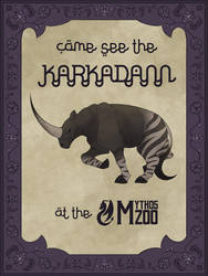 Come see the Karkadann at the Mythos Zoo