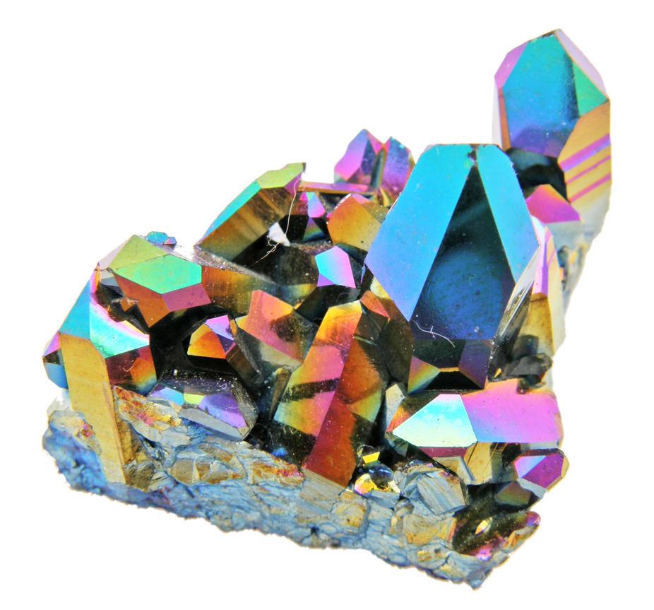 Rainbow Quartz Stone : Rainbow aura quartz v by rae on deviantart