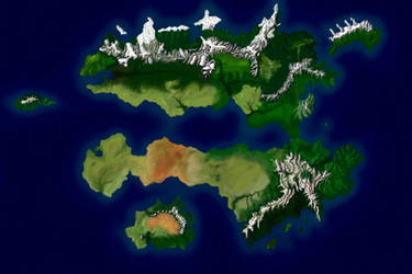 World Map Without Borders by desuran