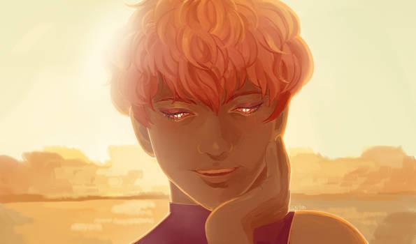 stygian au//sunset warmth