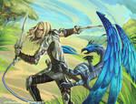 Griffon perceur d'armure by Ellana01