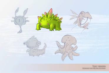 Alien Monsters by Ellana01