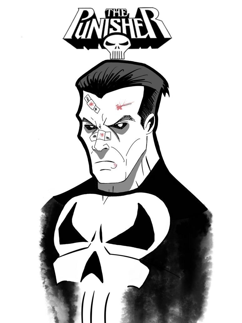 Punisher Speed Drawing by GordZee