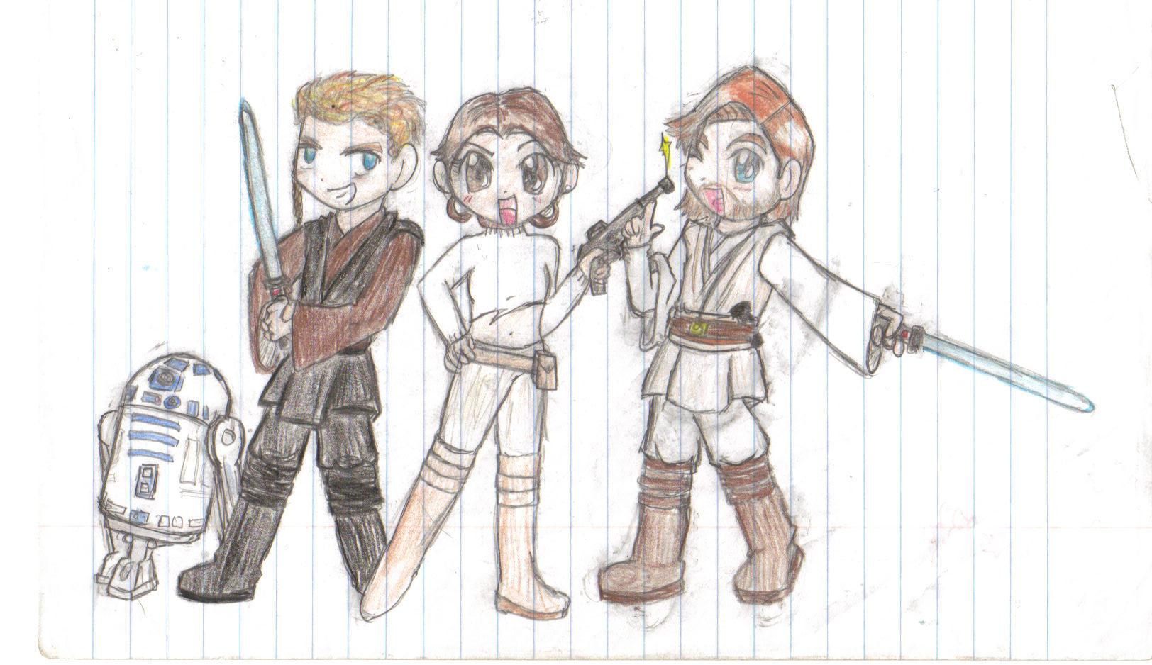 Star Wars Jedi Drawings an Error Occurred
