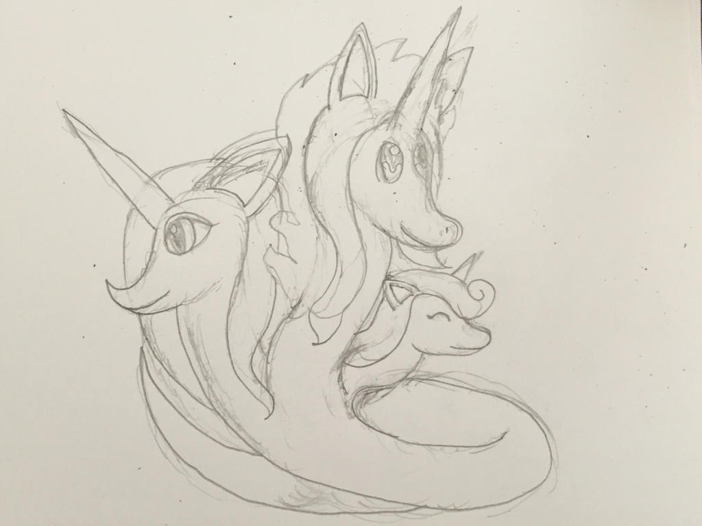 Three headed unicorn by Troops21