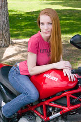 Motorcycle Chick by JessicaDru