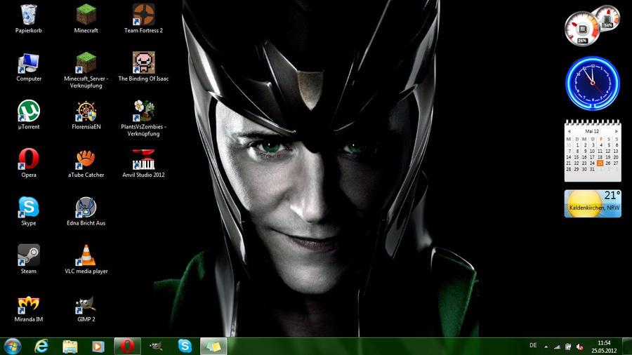 Loki - God of Mischief Desktop by PockyNightmare on deviantART