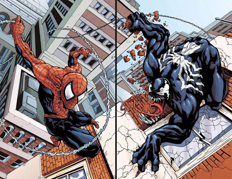 Spider-Man Vs. Venom Print Set by DaveComics
