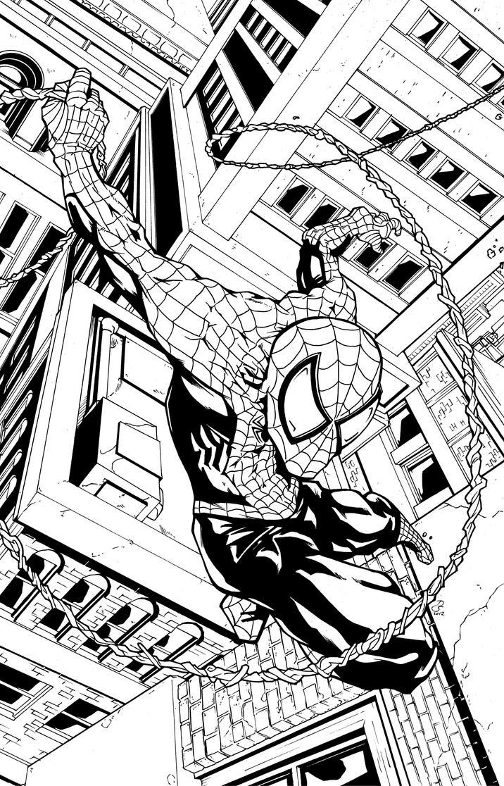 Spider-man Print Inks by DaveComics